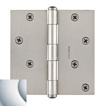Polished Chrome BR7028 Square Hinge