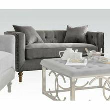 ACME Sidonia Loveseat w/2 Pillows - 53581 - Gray Velvet