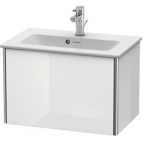 Vanity Unit Wall-mounted Compact, White High Gloss (lacquer)