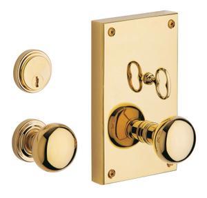 Lifetime Polished Brass Georgetown Entrance Trim Product Image