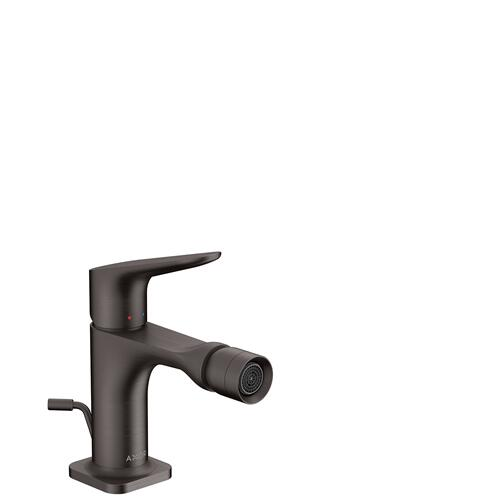 Brushed Black Chrome Single lever bidet mixer with pop-up waste set