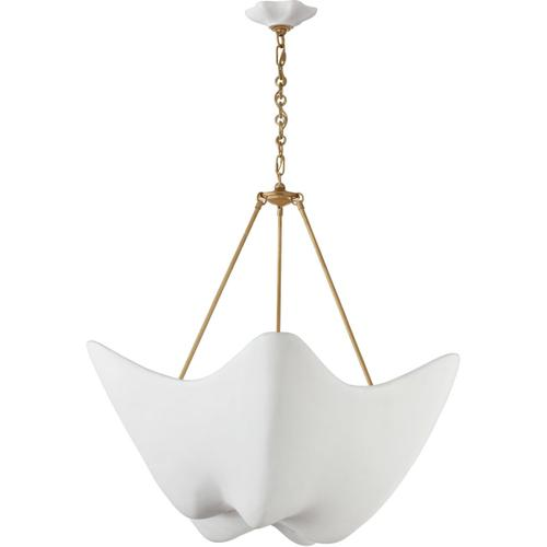 AERIN Cosima 6 Light 37 inch Hand-Rubbed Antique Brass Chandelier Ceiling Light, Large