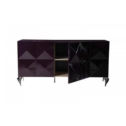 VIG Furniture - Versus Eva White Lacquer 3-Door Buffet