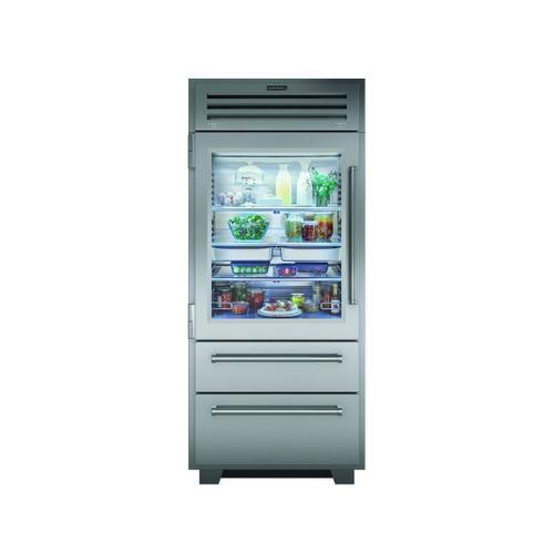 "Sub-Zero - 36"" PRO Refrigerator/Freezer with Glass Door"
