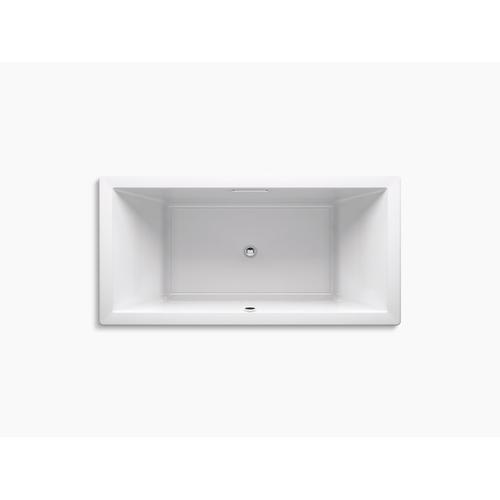 "White 72"" X 36"" Drop-in Bath With Bask Heated Surface and Center Drain"