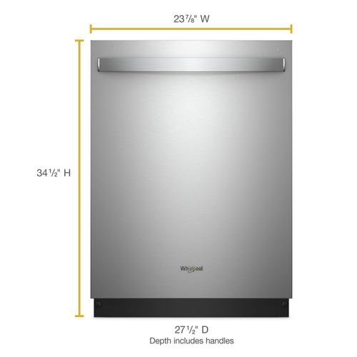 Whirlpool - Smart Dishwasher with Stainless Steel Tub Fingerprint Resistant Stainless Steel
