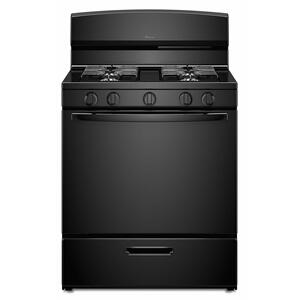 Amana30-inch Gas Range with EasyAccess Broiler Door - Black