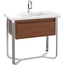 Antheus Vanity unit with frame made of high-gloss steel Rectangular B065U1 - Villeroy & Boch - American Walnut