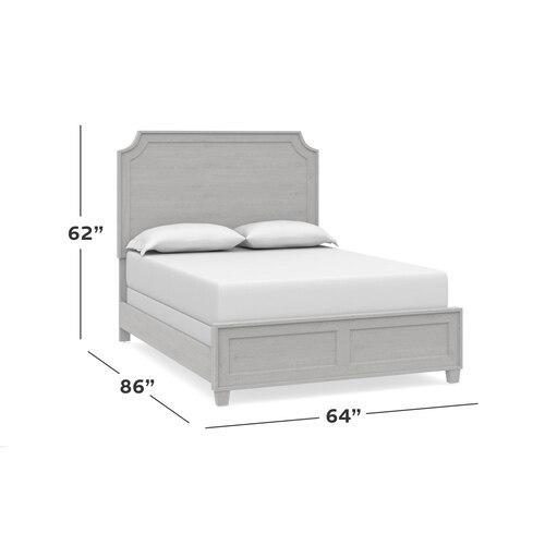 Ventura Cal King Panel Bed, Footboard Low
