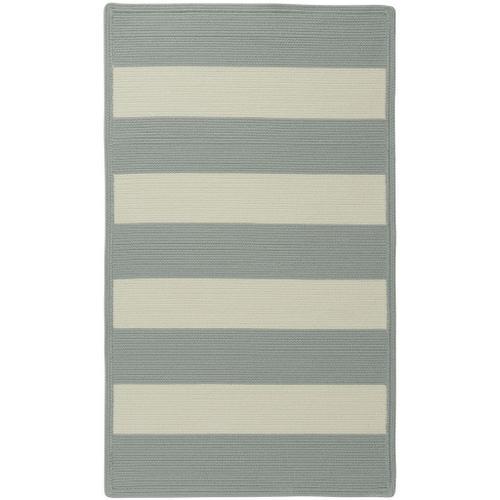 """Cabana Stripes Sugar Blue - Concentric Rectangle - 20"""" x 30"""""""