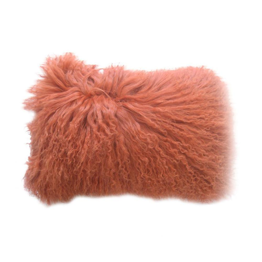 See Details - Lamb Fur Pillow Rect. Orange