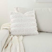 """Life Styles Dc827 White 17"""" X 17"""" Throw Pillow"""