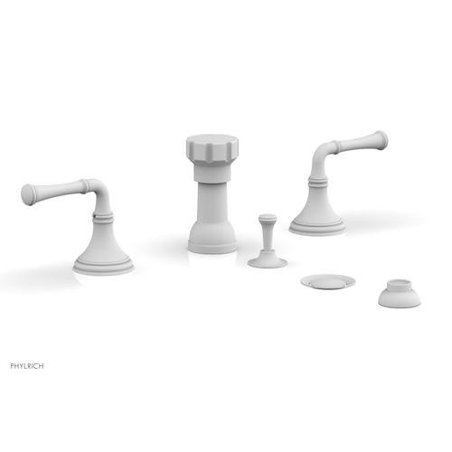 3RING Four Hole Bidet Set D4205 - Satin White