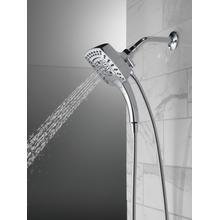 Chrome H 2 Okinetic ® In2ition ® 5-Setting Two-in-One Shower