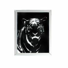 ACME Nevina Wall Art, Mirrored & Faux Crystal Tiger - 97319