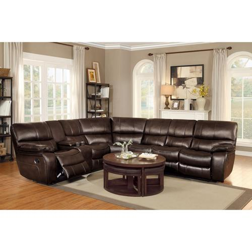 Left Side Reclining Love Seat with Center Console