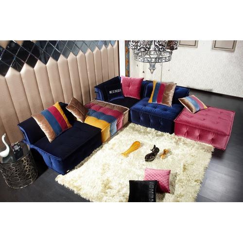 VIG Furniture - Divani Casa Dubai - Contemporary Multicolored Fabric Modular Sectional Sofa