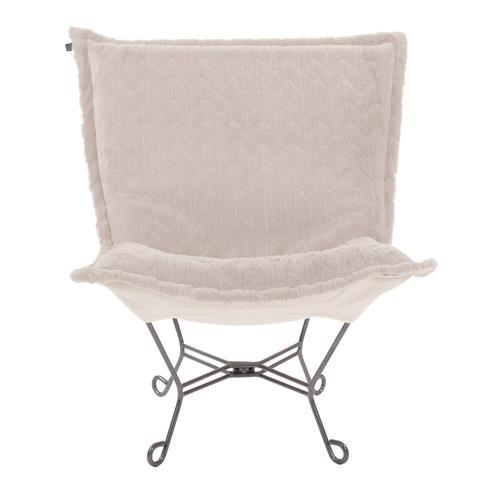 Howard Elliott - Scroll Puff Chair Angora Natural