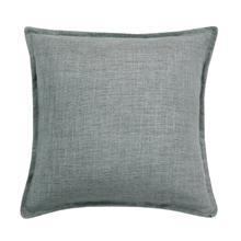 Linen Cushion - Green / 100% Duck Feather