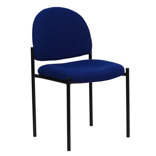 Comfort Navy Fabric Stackable Steel Side Reception Chair