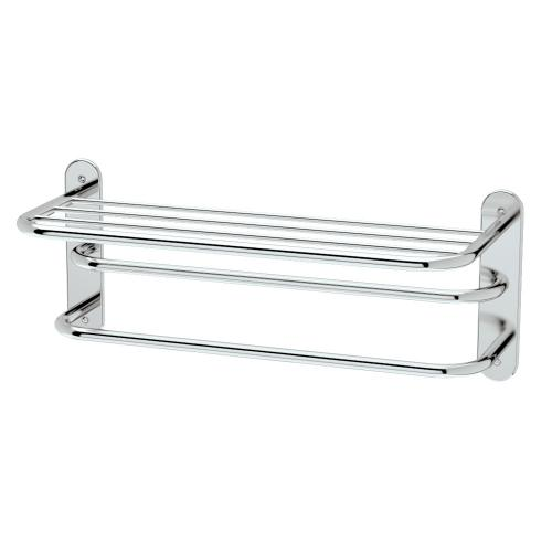 """Spa Rack - 26 1/2""""L by 10 1/2""""H in Polished Brass"""