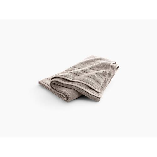 "Truffle Bath Towel With Terry Weave, 30"" X 58"""