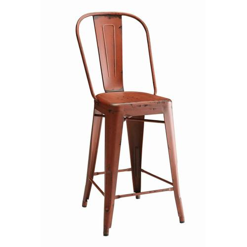 Lahner Traditional Red Counter Chair