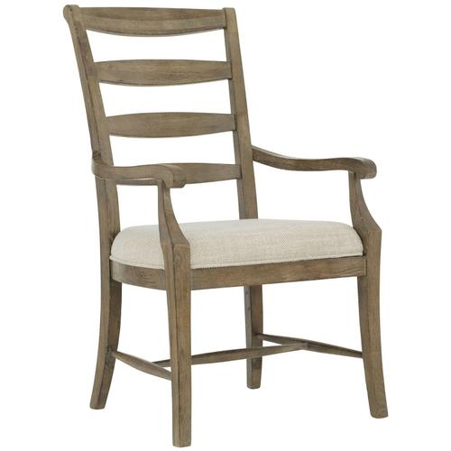 Rustic Patina Ladderback Arm Chair in Peppercorn (387)