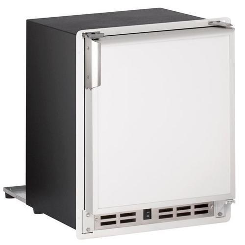 "U-Line - 15"" Crescent Ice Maker With White Solid Finish (115 V/60 Hz Volts /60 Hz Hz)"