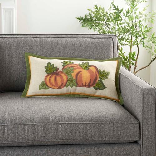 "Holiday Pillows L1826 Natural 12"" X 24"" Throw Pillow"