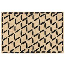 See Details - Doormat Brushstroke Diamonds Black 24x36