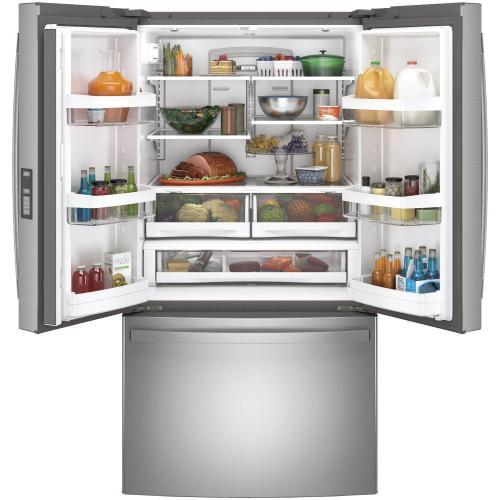GE Appliances - GE® ENERGY STAR® 28.7 Cu. Ft. Fingerprint Resistant French-Door Refrigerator