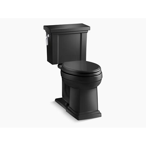 Kohler - Black Black Two-piece Elongated 1.28 Gpf Chair Height Toilet