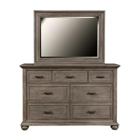 Chatham Park 7 Drawer Dresser in Warm gray