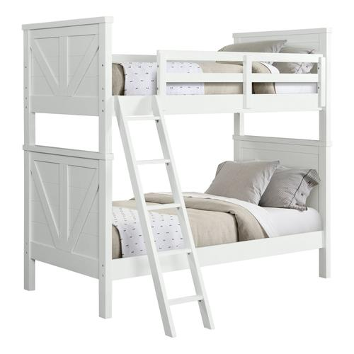 Tahoe Youth Twin over Twin Bunk Bed  Sea Shell