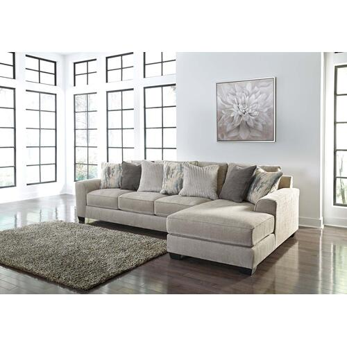 Ardsley Sectional Pewter Right