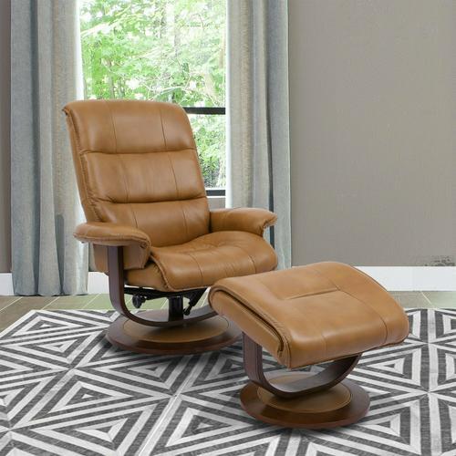 KNIGHT - BUTTERSCOTCH Manual Reclining Swivel Chair and Ottoman
