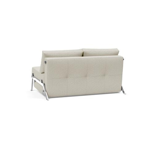 "CUBED 02 SOFA FRONT/MID SEAT, 55""X79""/CUBED 02 SOFA BACK & CUSHIONS, 55""X""79/CUBED LEGS, CHROME"