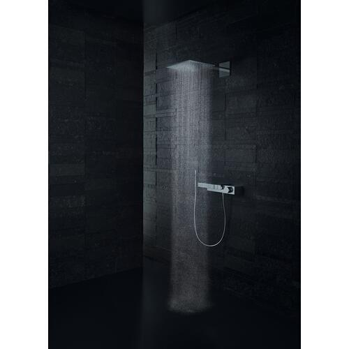 Brushed Brass Overhead shower 300/300 2jet with shower arm