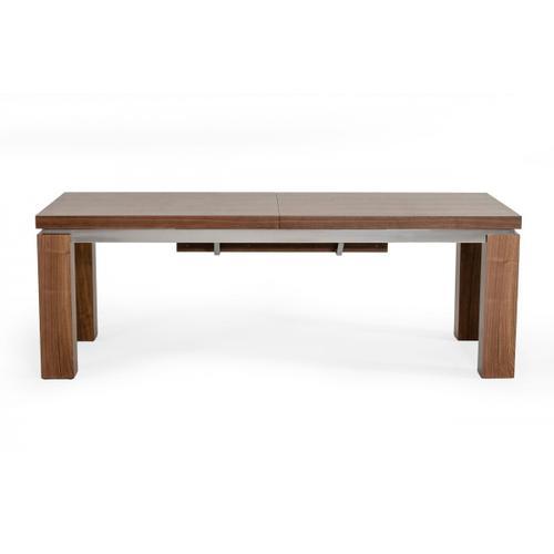 VIG Furniture - Modrest Maxi - Modern Walnut & Stainless Steel Dining Table