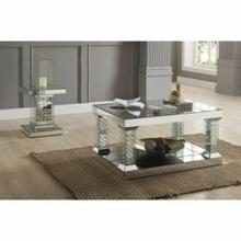 ACME Nysa Coffee Table - 80285 - Mirrored & Faux Crystals