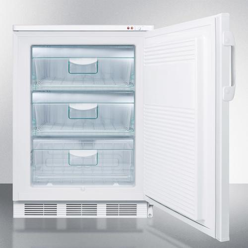"""24"""" Wide All-freezer for Freestanding Use Capable of -25 C Operation; Includes Audible Alarm, Lock, and Hospital Grade Plug"""