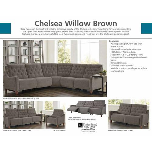 CHELSEA - WILLOW BROWN Power Recliner