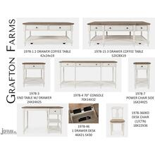 Grafton Farms 2 Drawer Coffee Table