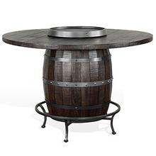View Product - Round Pub Table/ Wine Barrel Base
