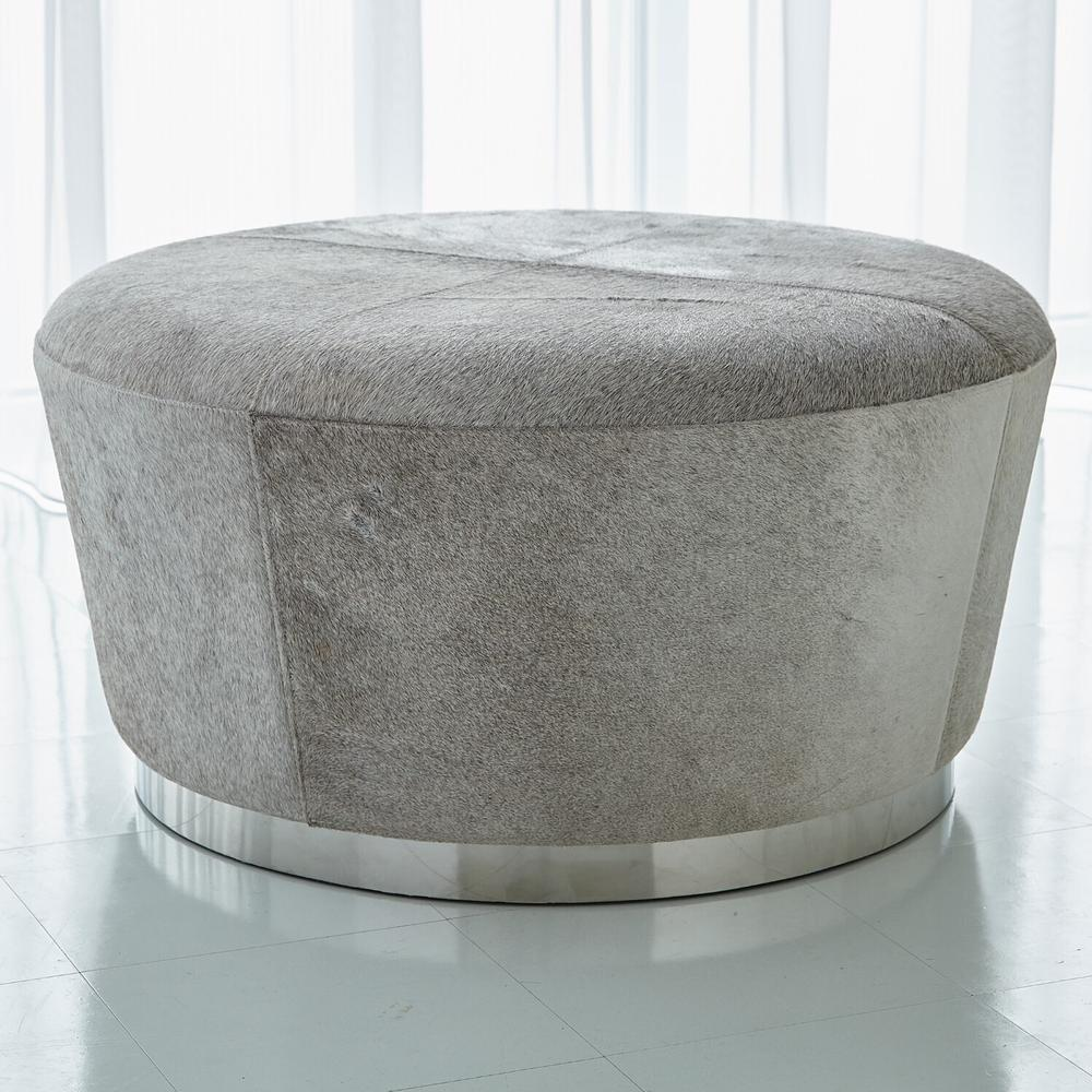 See Details - Tapered Ottoman-Grey Hair-on-Hide