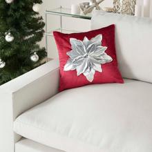 "Holiday Pillows L9966 Red Silver 16"" X 16"" Throw Pillow"