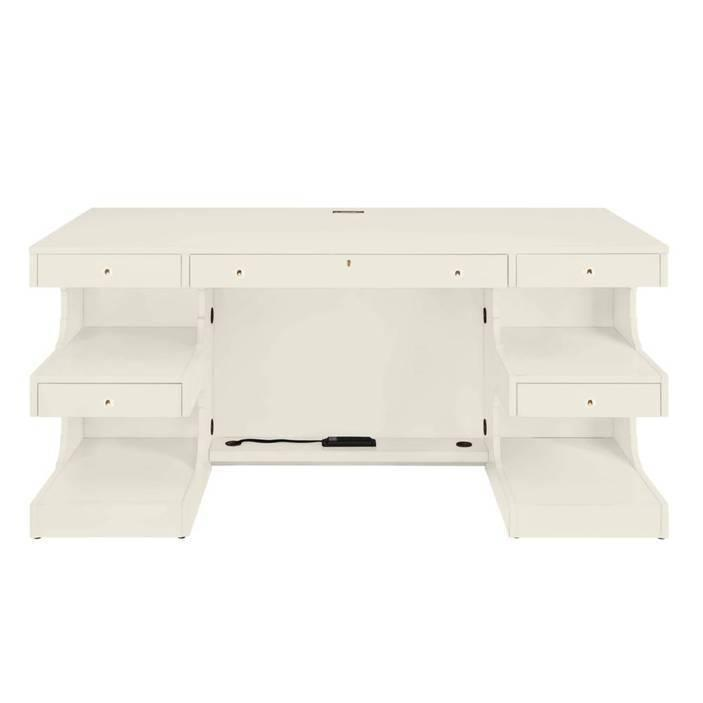 Latitude Writing Desk - Saltbox White