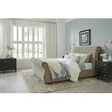 See Details - CLAIRE - KHAKI Upholstered Bed Collection