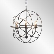 Derince Iron Chandelier Small w/Bulb